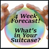 4 Week Forecast - What's in Your Suitcase? (By Email)