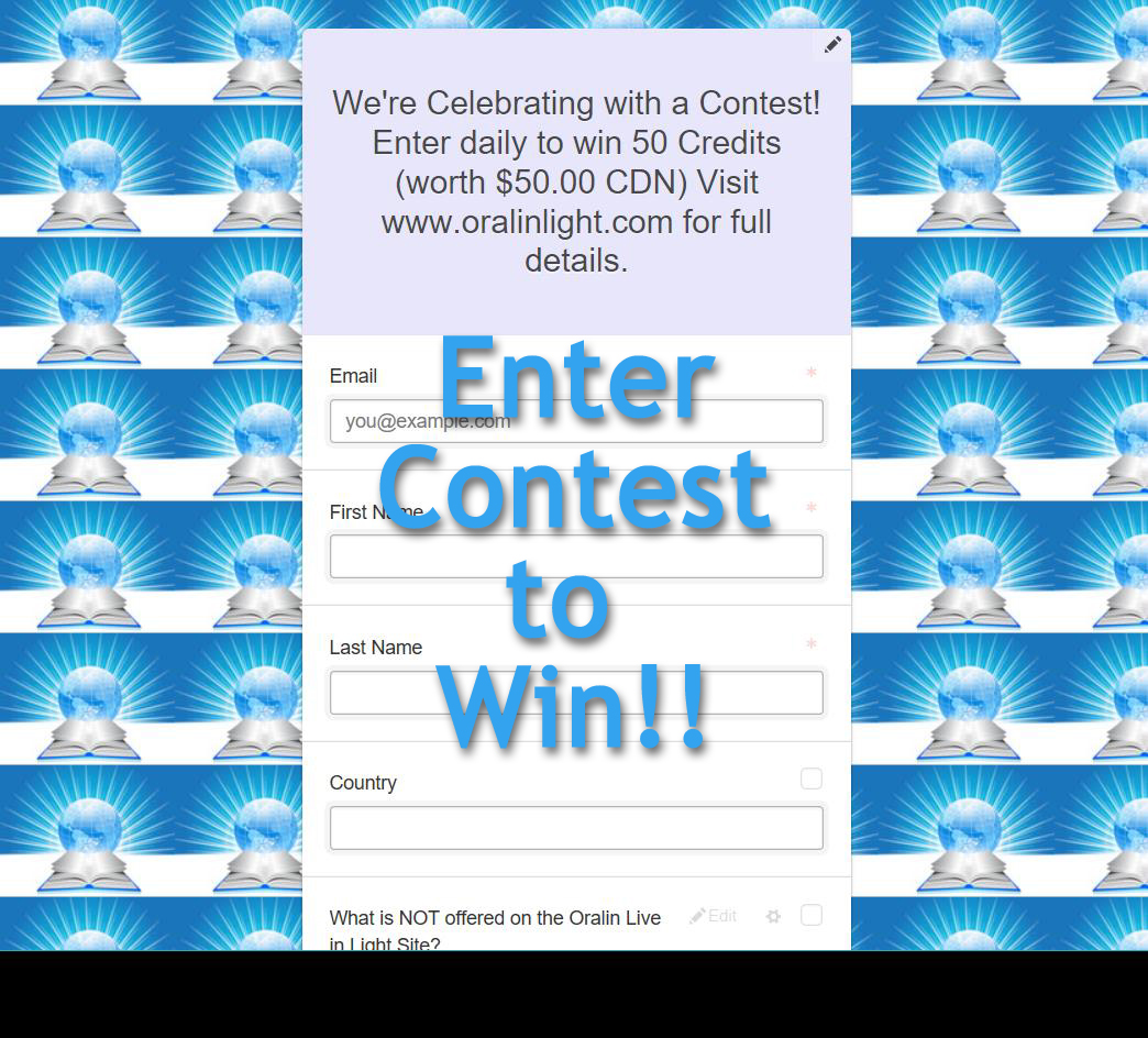 Enter Contest Now!