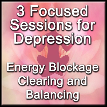 3 Focused Sessions for Depression - Distance Energy Blockage Clearing & Balancing for People